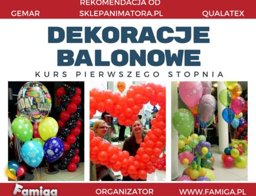 Kurs DEKORACJI BALONOWYCH I-go stopnia 17.03.18 Kraków