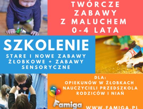 ANIMACJE ŻŁOBKOWE – Twórcze zabawy z maluszkiem 0-4 lata – szkolenie 4.10 Warszawa, 12.10 Kraków