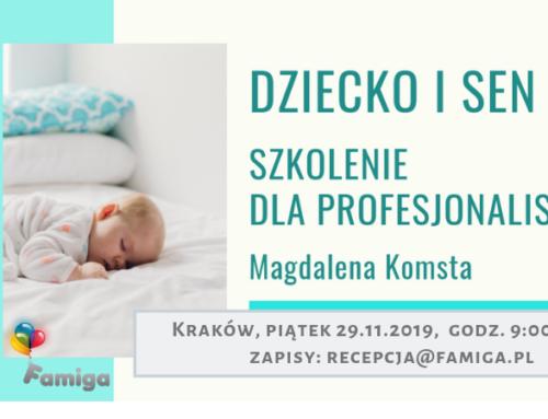 Dziecko i sen – szkolenie dla profesjonalistów, Kraków 29.11.19